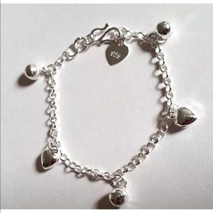 Jewelry - 925 Sterling Silver Charms Baby Girl Bracelet